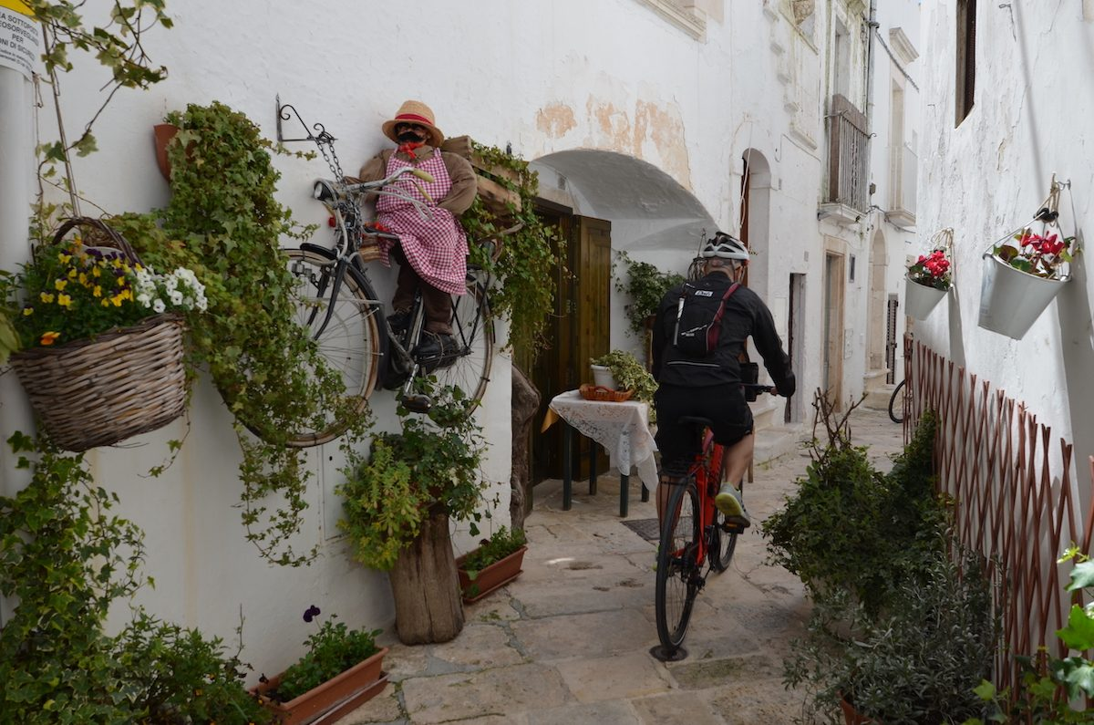 biking in locorotondo